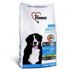 1ST CHOICE ADULT MEDIUM & LARGE BREED, Корм для взрослых собак средних и крупных пород с 14 мес. до 6 лет (курица).