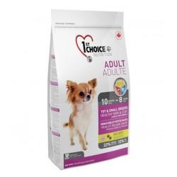 1ST CHOICE ADULT SENSITIVE SKIN & COAT MINI, корм для взрослых собак декоративных и мелких пород с 10 мес до 8 лет для кожи и шерсти (ягненок, рыба, рис).