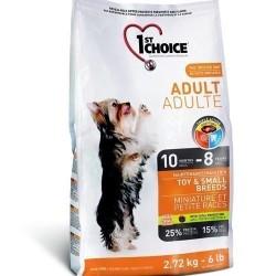 1ST CHOICE ADULT TOY & SMALL BREED, Корм для взрослых собак миниатюрных и мелких пород с 10 мес. до 8 лет (курица).