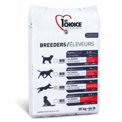 1ST CHOICE BREEDERS ADULT SENSITIVE SKIN & COAT ALL BREED, корм для взрослых собак всех пород с чувствительной кожей и шерстью (ягненок, рыба и рис).