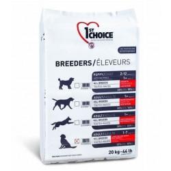 1ST CHOICE BREEDERS PUPPY SENSITIVE SKIN & COAT ALL BREED, корм для щенков всех пород с чувствительной кожей и шерстью (ягненок, рыба и рис).
