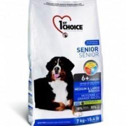 1ST CHOICE SENIOR MEDIUM & LARGE BREED, корм для пожилых собак средних и крупных пород (курица)