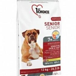 1ST CHOICE SENIOR SENSITIVE SKIN & COAT ALL BREED, корм для пожилых собак с чувствительной кожей