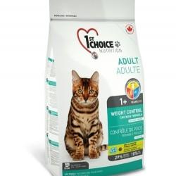 1ST CHOICE WEIGHT CONTROL ADULT  «КОНТРОЛЬ ВЕСА», Корм для кастрированных и стерилизованных кошек с 1 года (курица).