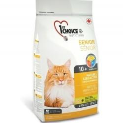 1ST CHOICE MATURE-LESS ACTIVE, Корм для пожилых и малоактивных кошек с 10 лет (курица).
