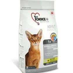 1ST CHOICE HYPOALLERGENIC GF ADULT, беззерновой корм для взрослых кошек с 1 года (утка с картофелем)