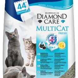 Biokat's Diamond Care Multicat, комкующийся натуральный наполнитель для кошек с активированным углем и AromaProtect Formula