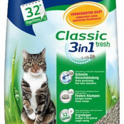 Biokat's Classic Fresh 3in1, комкующийся натуральный наполнитель для кошек