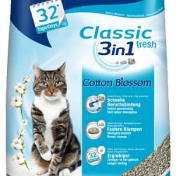 Biokat's fior de cotton 3in1, комкующийся натуральный наполнитель для кошек с ароматом хлопка