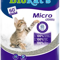 Biokat's Micro Classic, комкующийся натуральный наполнитель с мелкими гранулами