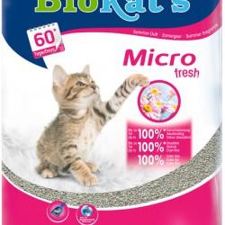 Biokat's Micro Fresh, комкующийся натуральный наполнитель для кошек с запахом свежих цветов