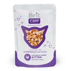 Brit Care Cat Chicken & Cheese KITTEN (Курица и сыр), влажный корм для котят