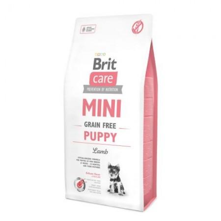 Brit Care MINI GRAIN FREE PUPPY,  беззерновой корм для щенков мини пород (ягненок)