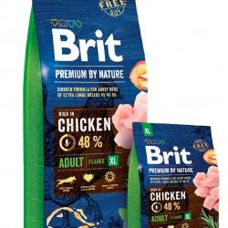 Brit Premium by Nature Adult XL, корм для взрослых собак гигантских пород (45–90 кг)