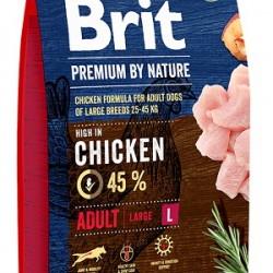 Brit Premium by Nature Adult L,  корм для взрослых собак крупных пород (25–45 кг)