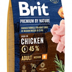 Brit Premium by Nature Adult M, корм для взрослых собак средних пород