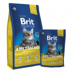 Brit Premium Cat Adult Salmon,  КОРМ ДЛЯ ВЗРОСЛЫХ КОШЕК. НЕЖНЫЙ ЛОСОСЬ В СОУСЕ