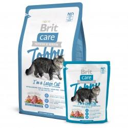 Brit Care Cat Tobby, ГИПОАЛЛЕРГЕННЫЙ БЕЗЗЕРНОВОЙ КОРМ С УТКОЙ И КУРИЦЕЙ ДЛЯ ВЗРОСЛЫХ КОШЕК КРУПНЫХ ПОРОД
