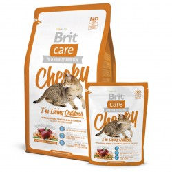 Brit Care Cat Cheeky Outdoor, ГИПОАЛЛЕРГЕННЫЙ КОРМ С ОЛЕНИНОЙ И РИСОМ ДЛЯ КОШЕК, ЖИВУЩИХ НА УЛИЦЕ