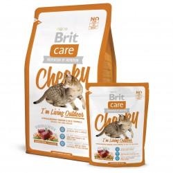 Brit Care Cat Cheeky Outdoor, ГИПОАЛЛЕРГЕННЫЙ КОРМ С ОЛЕНИНОЙ И РИСОМ ДЛЯ КОШЕК, ЖИВУЩИХ НА УЛИЦЕ