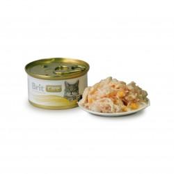 Brit Care Cat Chicken Breast & Cheese (Куриная грудка и сыр), консервы для кошек