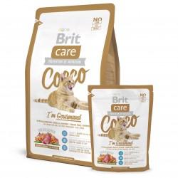 Brit Care Cat Cocco Gourmand,  ГИПОАЛЛЕРГЕННЫЙ БЕЗЗЕРНОВОЙ КОРМ С МЯСОМ УТКИ И ЛОСОСЯ ДЛЯ ПРИВЕРЕДЛИВЫХ КОШЕК И КОШЕК С ЧУВСТВИТЕЛЬНЫМ ПИЩЕВАРЕНИЕМ.