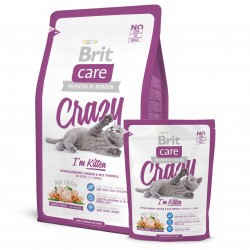 Brit Care Cat Crazy Kitten, ГИПОАЛЛЕРГЕННЫЙ КОРМ С КУРИЦЕЙ И РИСОМ ДЛЯ КОТЯТ, БЕРЕМЕННЫХ И КОРМЯЩИХ КОШЕК
