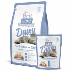 Brit Care Cat Daisy, ГИПОАЛЛЕРГЕННЫЙ КОРМ С ИНДЕЙКОЙ И РИСОМ ДЛЯ КОШЕК С ИЗБЫТОЧНЫМ ВЕСОМ.
