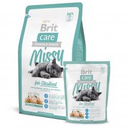Brit Care Cat Missy for Sterilised, ГИПОАЛЛЕРГЕННЫЙ КОРМ С КУРИЦЕЙ И РИСОМ ДЛЯ СТЕРИЛИЗОВАННЫХ КОШЕК.