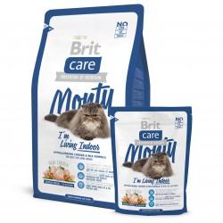 Brit Care Cat Monty Indoor, ГИПОАЛЛЕРГЕННЫЙ КОРМ С КУРИЦЕЙ И РИСОМ ДЛЯ ВЗРОСЛЫХ КОШЕК, ЖИВУЩИХ В ДОМЕ