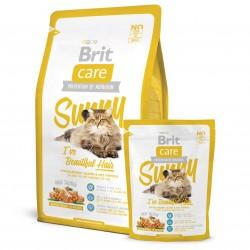 Brit Care Cat Sunny Beautiful Hair, ГИПОАЛЛЕРГЕННЫЙ КОРМ С МЯСОМ ЛОСОСЯ И РИСОМ ДЛЯ ВЗРОСЛЫХ КОШЕК, ШЕРСТЬ КОТОРЫХ ТРЕБУЕТ ДОПОЛНИТЕЛЬНОГО УХОДА.