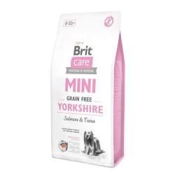 Brit Care MINI GRAIN FREE YORKSHIRE, беззерновой корм для йоркширских терьеров (лосось/тунец)
