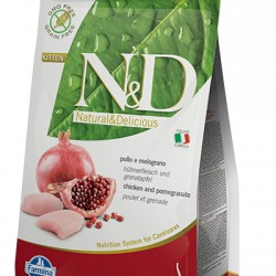 Farmina N&D Grain Free Chicken&Pomegranate Kitten. беззерновой корм для котят, беременных и лактирующих кошек