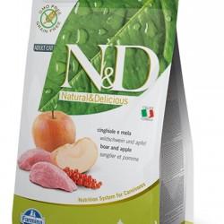 Farmina N&D Grain Free Boar&Apple Adult. беззерновой корм для взрослых кошек (кабан/яблоко).