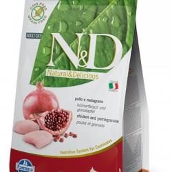 Farmina N&D Grain Free Chicken&Pomegranate Adult. беззерновой корм для взрослых кошек (курица/гранат)