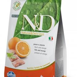 Farmina N&D Grain Free Fish&Orange Adult. беззерновой корм для взрослых кошек (треска/апельсин)