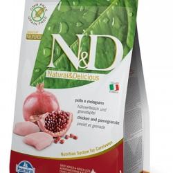 Farmina N&D Grain Free Chicken&Pomegranate Neutered. беззерновой корм для взрослых стерилизованных кошек и кастрированных котов (курица/гранат).
