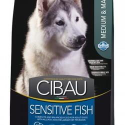 Farmina Cibau Sensitive Fish Medium/Maxi, корм с рыбой  для взрослых собак