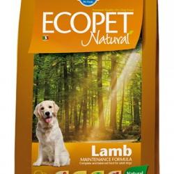 Farmina ECOPET NATURAL Lamb medium, корм с ягненком для собак средних пород с проблемами пищеварения и аллергией.