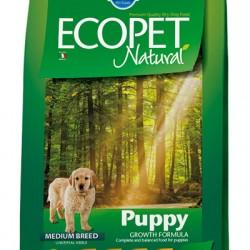 Farmina ECOPET NATURAL PUPPY, корм для щенков, беременных и лактирующих сук средних пород