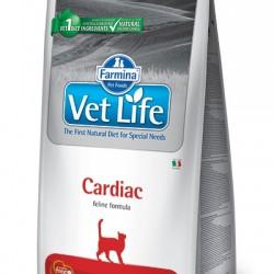 Farmina Vet Life Cardiac,  диетический сухой корм для кошек для поддержания работы сердца при хронической сердечной недостаточности