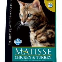 Farmina Matisse Chicken&Turkey. Полнорационный и сбалансированный корм для взрослых кошек (курица/индейка).