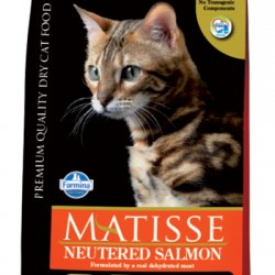 Farmina Matisse Neutered Salmon. корм для взрослых стерилизованных кошек и кастрированных котов (с лососем).