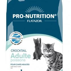 Flatazor Crocktail Adult Poissons, Полнорационный корм супер-премиум класса для взрослых кошек всех пород с рыбой. Профилактика мочекаменной болезни