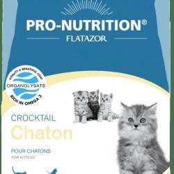 Flatazor Crocktail Chaton, полнорационный корм супер-премиум класса для котят и кошек в период беременности и лактации с мясом курицы, утки и индейки