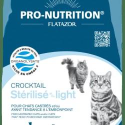 Flatazor Crocktail Sterilise/Light, полнорационный корм для кошек, склонных к увеличению веса и/или стерилизованных с мясом курицы, утки и индейки