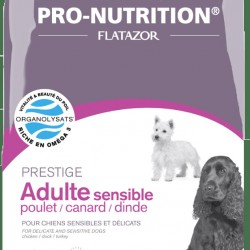 Flatazor Prestige Adult Sensible POULET/CANARD/DINDE (Курица, Утка, Индейка), корм для собак с деликатным пищеварением