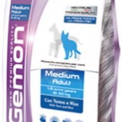 GEMON Medium Adult with Tuna & Rice (Тунец и рис), корм для взрослых собак средних пород