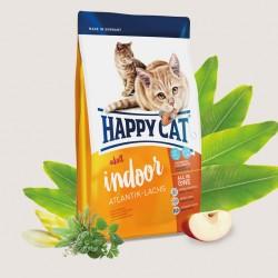 Happy Cat Supreme Indoor Атлантический лосось, корм для кошек с проблемами кожи и шерсти