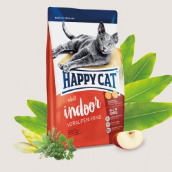 Happy Cat Supreme Adult Indoor Альпийская говядина, корм для крупных кошек, сфинксов